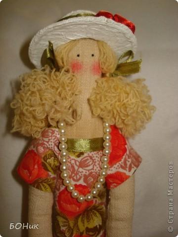 """Доброго времени суток!  Знакомтесь - это Адель. Сшита по выкройке """"деревенского ангела""""  http://kita.com.ua/blog/post/party/70972/show.html Рост у нее около 30 см фото 2"""