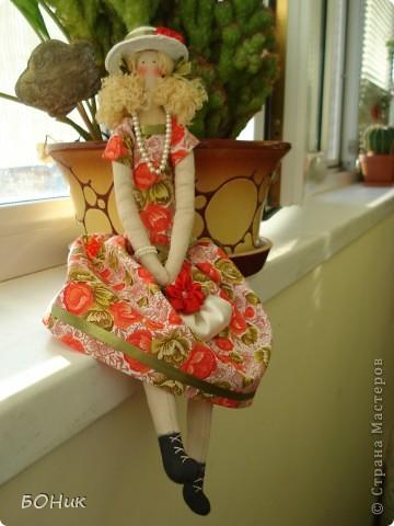 """Доброго времени суток!  Знакомтесь - это Адель. Сшита по выкройке """"деревенского ангела""""  http://kita.com.ua/blog/post/party/70972/show.html Рост у нее около 30 см фото 9"""