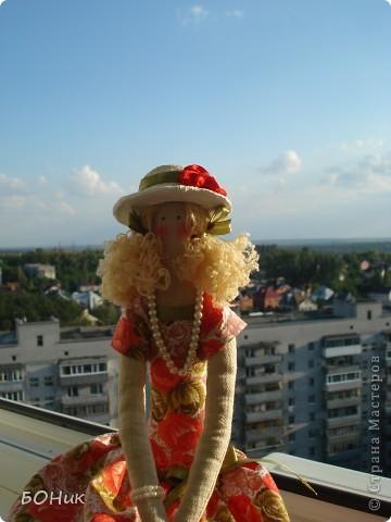 """Доброго времени суток!  Знакомтесь - это Адель. Сшита по выкройке """"деревенского ангела""""  http://kita.com.ua/blog/post/party/70972/show.html Рост у нее около 30 см фото 10"""