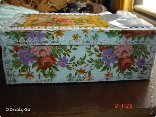 здраствуйте дорогие мастерицы!! у моей тети был юбилей 70 лет и я вот сделала ей такой подарочек ,это коробочка сделанная тоже мною фото 2