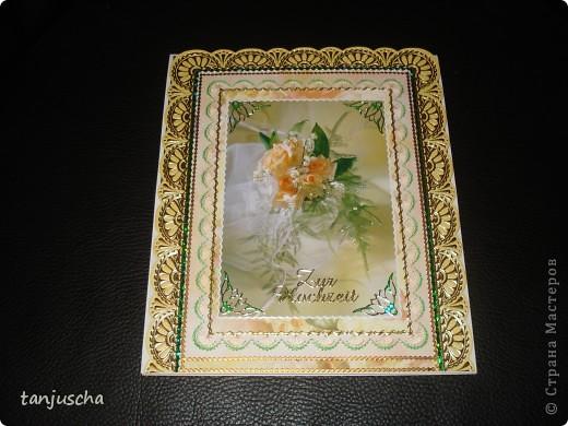 Всем здравствуйте. Сегодня хочу показать вам новые свадебные открытки которые делала на заказ.  Сразу хочу извениться перед всеми кому обещала сделать МК упаковочки. Обещаю МК будет но попозже . Сначала нужно разобраться с заказами фото 3