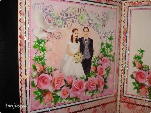 Всем здравствуйте. Сегодня хочу показать вам новые свадебные открытки которые делала на заказ.  Сразу хочу извениться перед всеми кому обещала сделать МК упаковочки. Обещаю МК будет но попозже . Сначала нужно разобраться с заказами фото 11