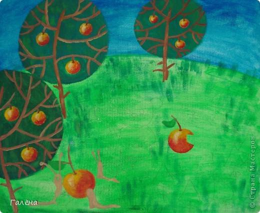 Эту веселую картинку рисовала на День Рождения племяшки.По мотивам иллюстраций Виктории Кирдий. Думаю,что кому-нибудь пригодятся мои этапы выполнения данной работы. фото 5