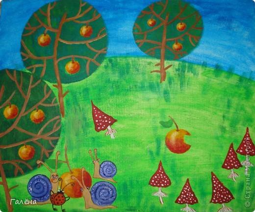 Эту веселую картинку рисовала на День Рождения племяшки.По мотивам иллюстраций Виктории Кирдий. Думаю,что кому-нибудь пригодятся мои этапы выполнения данной работы. фото 7