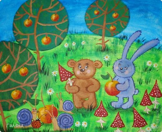 Эту веселую картинку рисовала на День Рождения племяшки.По мотивам иллюстраций Виктории Кирдий. Думаю,что кому-нибудь пригодятся мои этапы выполнения данной работы. фото 8
