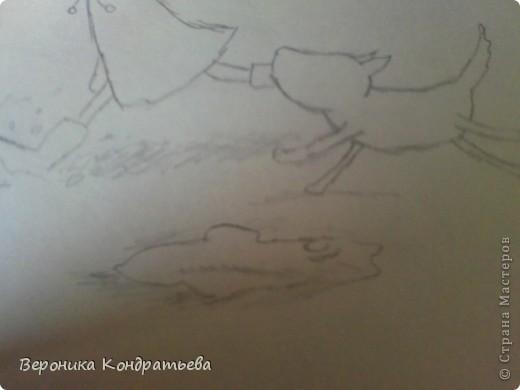 Давайте нарисуем такую смешную картинку? Берем листочек бумаги, карандаш, ластик... И начинаем рисовать! фото 11