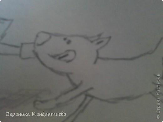 Давайте нарисуем такую смешную картинку? Берем листочек бумаги, карандаш, ластик... И начинаем рисовать! фото 12