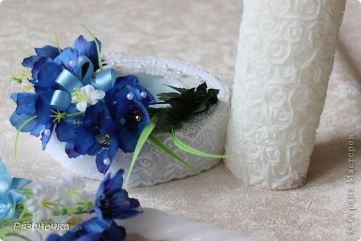 Занималась я тут украшением свадебного помещения. Бюджет был маленький, а сделать хотелось красиво. С тканью работала впервые. Ну уж что получилось... фото 11