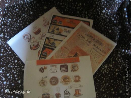 Мне очень повезло: посылка мне пришла из Усть-Цильмы, от Танечки-2002 и её мамы Мартинки. Посылка шла с небольшими приключениями. Почему-то её захотелось затеряться в Перми. Но всё-таки я её получила. И теперь хвастаюсь!!! Кофе- источник вдохновения, об этом гласила открытка, присланная девочками. Кофе вдохновил их на множество подарков. Смотрите и любуйтесь.  фото 4
