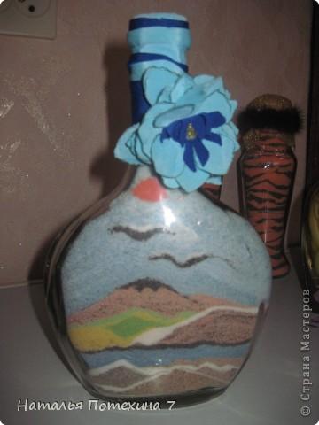 Это мой вариант декоротивных бутылочек! фото 5