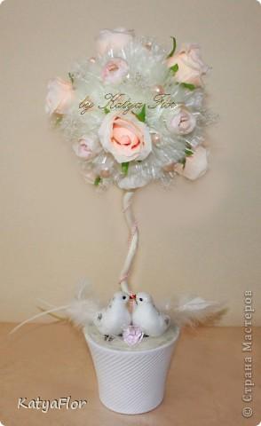 Свадебная пора вдохновила  на вот такое деревце. фото 1