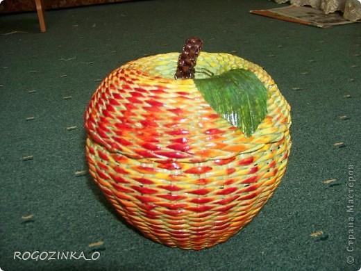 Здравствуйте, мастера и рукодельницы СМ. Скоро яблочный спас. Предлагаю вашему вниманию обещанный МК по плетению яблока. фото 1