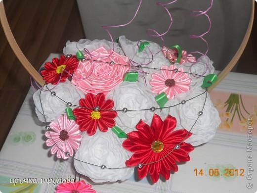 доброго времени суток дорогие мастерицы!!! поступил мне заказ на корзинки с цветами!!! пришлось пока отложить бокальчики!!! (позже выложу фото и все расскажу). я долго думала какие цвета  и цветы необходимо использовать!! потому что поплосили нежность!!! надеюсь получмлось!!!??? фото 1