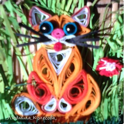 Подсолнушки и котята для моей дочечки. фото 3
