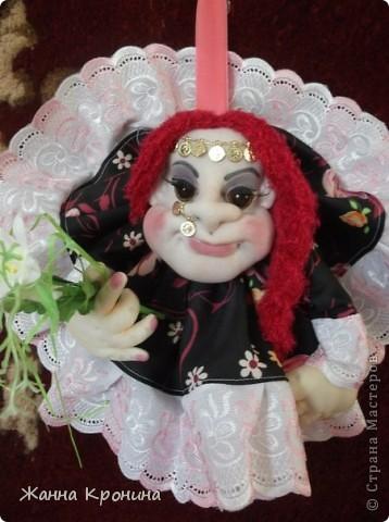 """Здравствуйте,дорогие мастерицы! Вот сделала по заказу жениха с невестой. Времени было """"в обрез""""- 1 день- поэтому сделала """"Попиков"""" Немного размытая фотка получилась- но ничего- ниже есть отдельные, там лучше видно........... фото 4"""