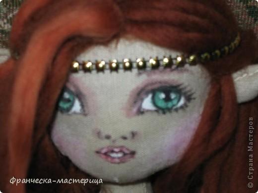 Доброго дня всем посетителям СМ! Представляю вам мою новую куклу - эльфиечку. Рост у девушки - 35 см. Сшита из тонированного льна, Набивка - холоффайбер. фото 5