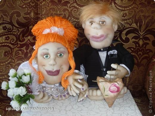 Попросили сделать кукол на подарок на свадьбу. фото 1