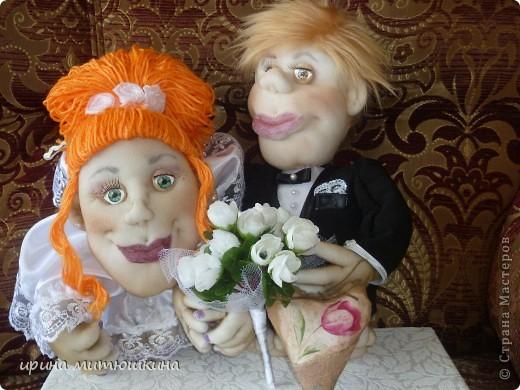 Попросили сделать кукол на подарок на свадьбу. фото 3