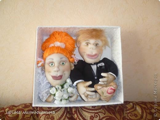 Попросили сделать кукол на подарок на свадьбу. фото 5