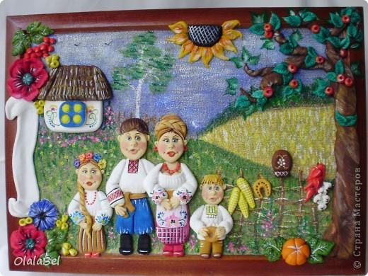 Украинский оберег. Соленое тесто. «Родинне щастя»  фото 1