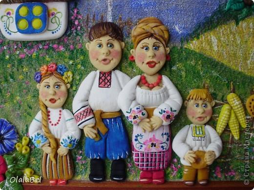 Украинский оберег. Соленое тесто. «Родинне щастя»  фото 2