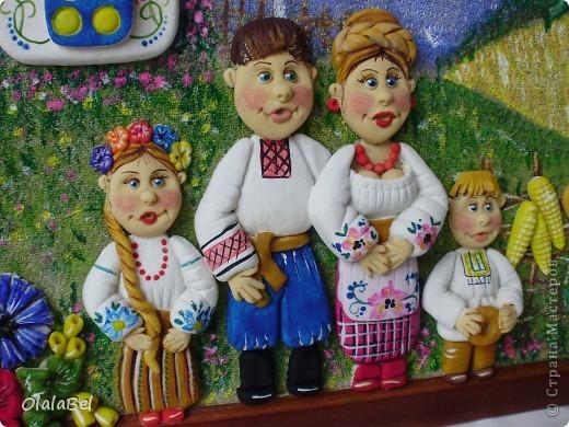 Украинский оберег. Соленое тесто. «Родинне щастя»  фото 3