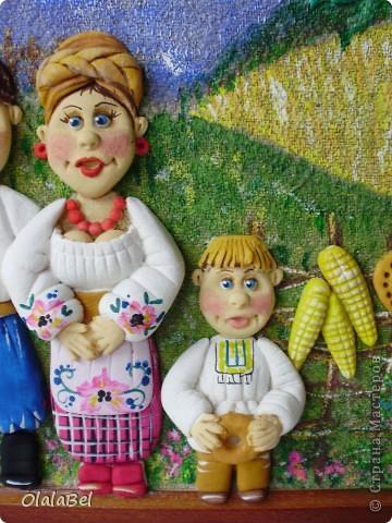 Украинский оберег. Соленое тесто. «Родинне щастя»  фото 7