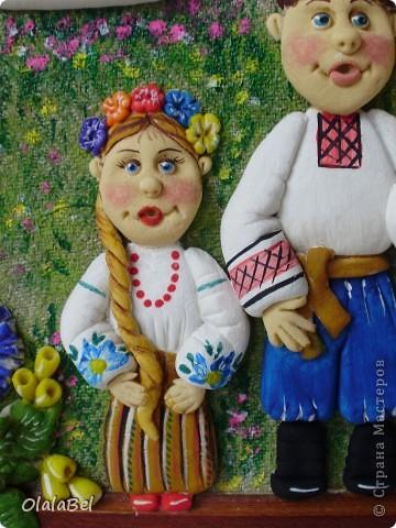 Украинский оберег. Соленое тесто. «Родинне щастя»  фото 6