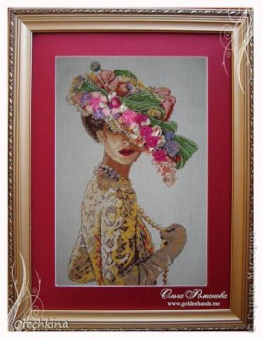 """Добрый день! Сегодня решила показать Вам мою самую любимую вышивальную работу: """"Викторианская элегантность""""."""