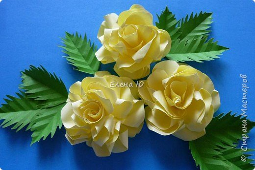 Розы из бумаги на скорую руку фото 1