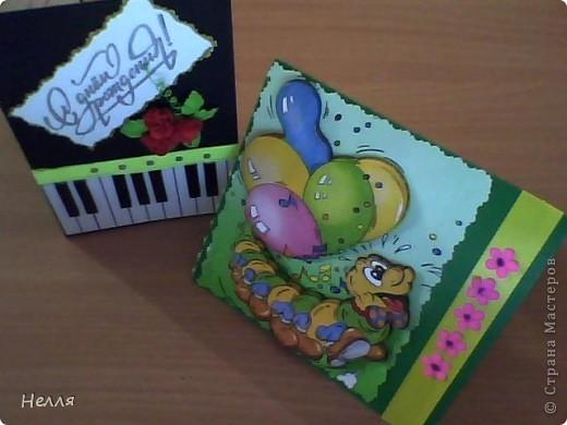 Вот такие открытки сделала на день рождения. фото 1