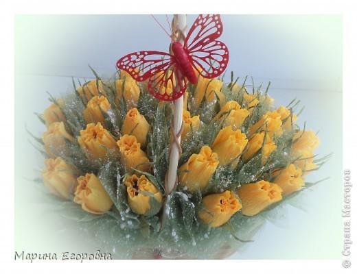 Букет из 35 желтых бутонов роз фото 1