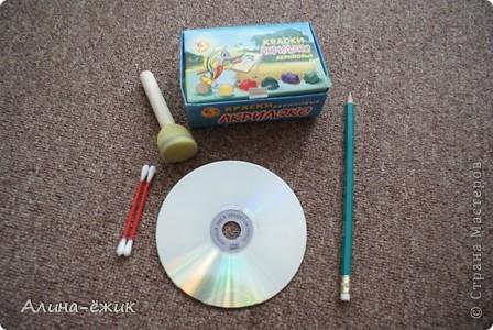 орнамент на CD диске фото 2