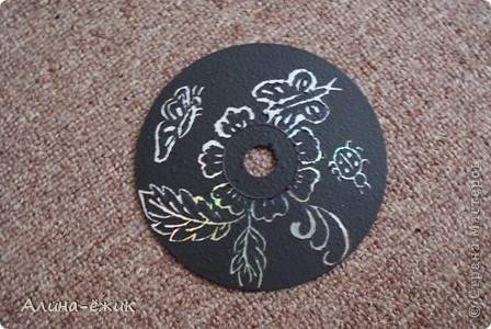 орнамент на CD диске фото 1
