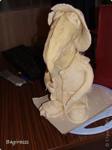 Ворон в процессе сушки. фото 1