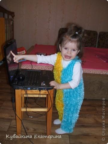 Мои работы по вязанию спицами, это только начальный этап, так что не судите строго))) Первая вязанная кофточка для моей дочурки Анны фото 2