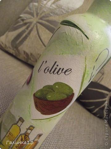 Вот наваяла бутылочек под винный напиток и под масло. давно хотела сделать африканскую и с оливками. УРА! я их сделала! фото 18