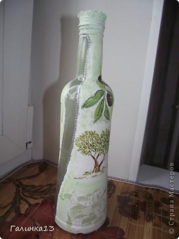 Вот наваяла бутылочек под винный напиток и под масло. давно хотела сделать африканскую и с оливками. УРА! я их сделала! фото 15