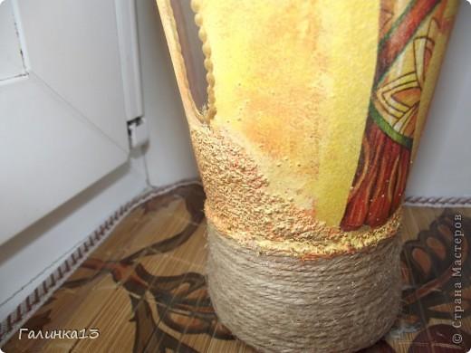 Вот наваяла бутылочек под винный напиток и под масло. давно хотела сделать африканскую и с оливками. УРА! я их сделала! фото 9