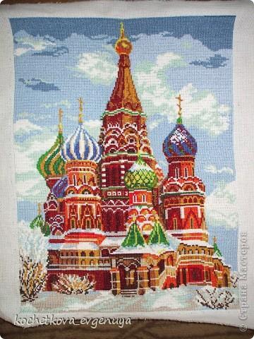 Храм Василия Блаженного. (Вышивка крестом) фото 1