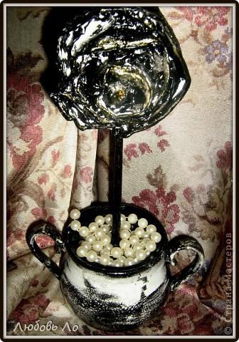 """Представляю вашему вниманию очередные мои работы. Это вазочка керамическая и деревянное яблоко. Оформлены в одном стиле. Назовем его """"Золотая парча"""". фото 7"""
