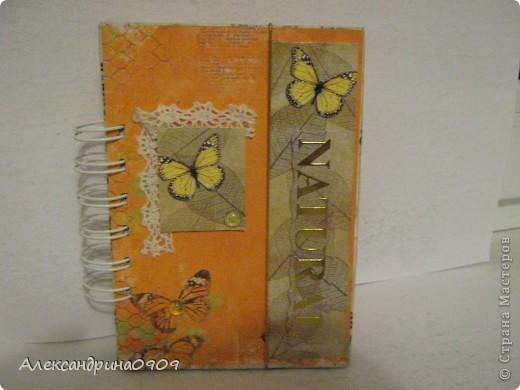 Вот такой несложный, но такой тёплый и милый блокнотик получился по МК на Аукаре http://tanya-flower.blogspot.com/2012/07/3.html. фото 1
