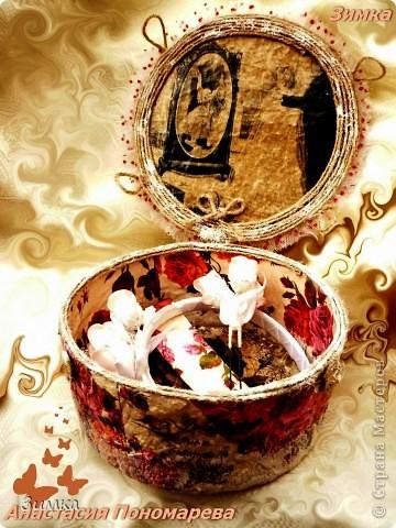 Коробка для свадебного канзаши комплекта фото 4