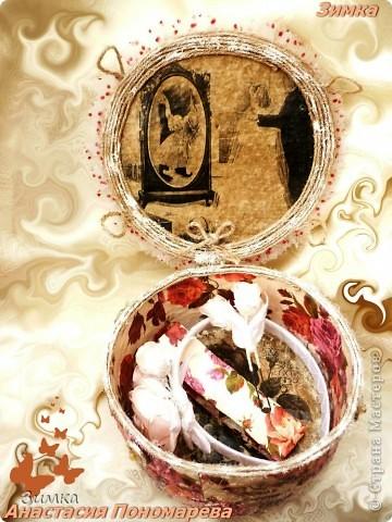 Коробка для свадебного канзаши комплекта фото 6