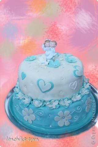 Сестре на свадьбу)) мой второй торт)) очень вкусный