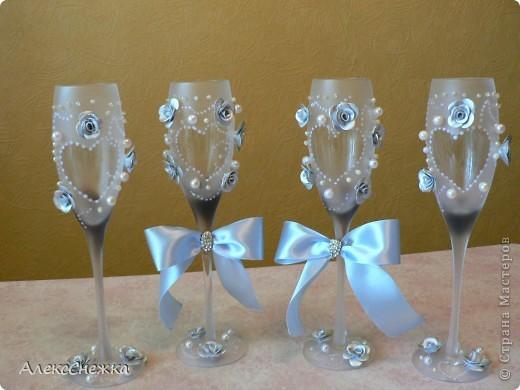 мои первые свадебные бокалы фото 1