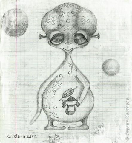 Пришла мне в голову идея, сшить инопланетного малыша.......Какой он должен быть?  фото 2