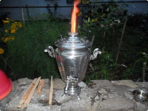 Набор к чаю - самовар , заварник и кружечки с тарелочкой. фото 7