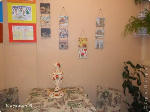 Набор к чаю - самовар , заварник и кружечки с тарелочкой. фото 2