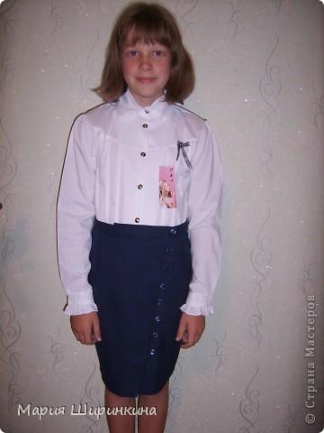 Прямая юбка с запАхом и пуговками.  Сшила к началу учебного года племяннице. фото 2